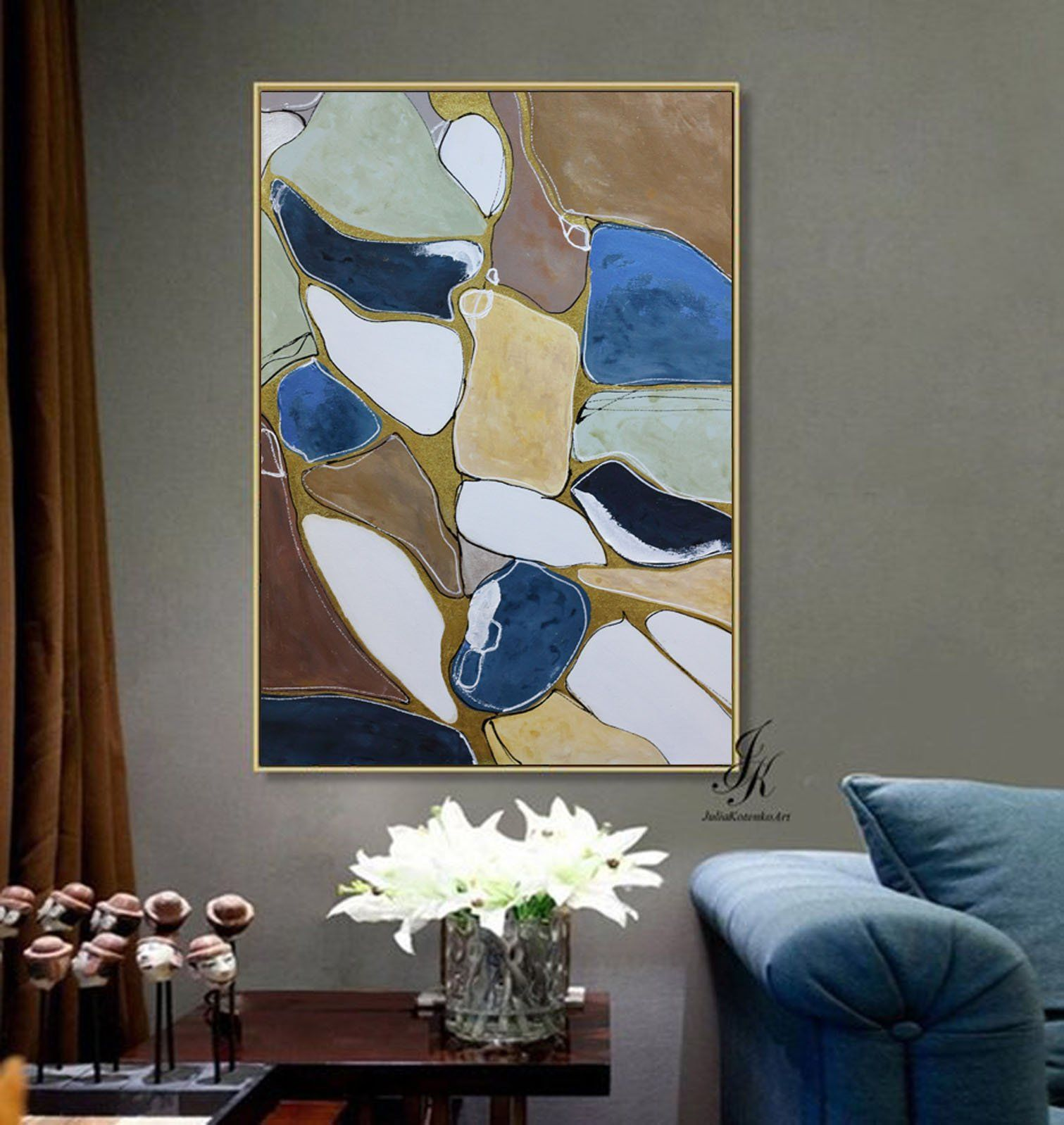 Abstract Acrylic Printable Blue Abstract Print Digital Download Abstract Art On Canvas Abstract Art P Abstract Art Prints Canvas Painting Abstract Painting