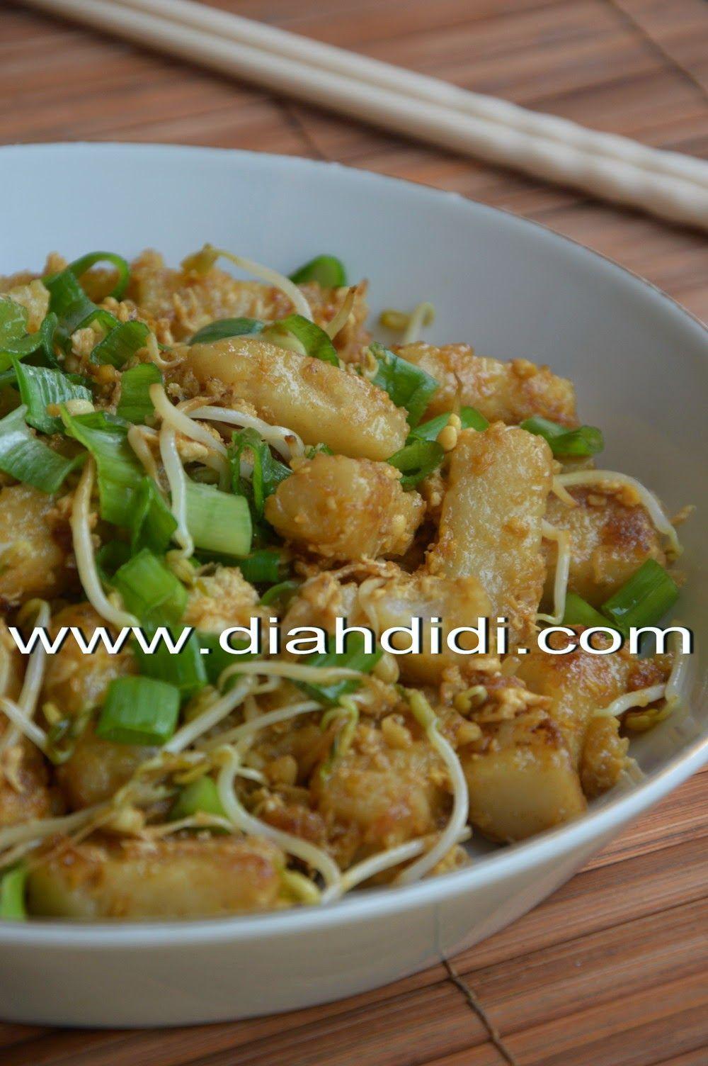 Kue Lobak Goreng Makanan Resep Masakan Indonesia Lobak