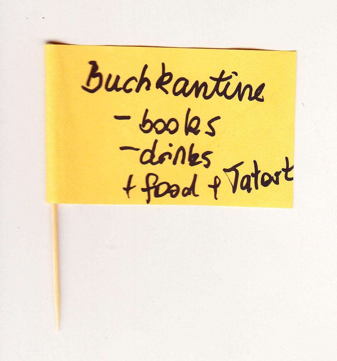 Buchkantine - books, drinks, food, Tatort