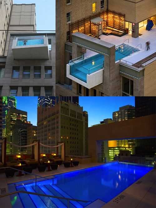 15 Spectacular Swimming Pools - Joule Hotel Pool, Dallas ...