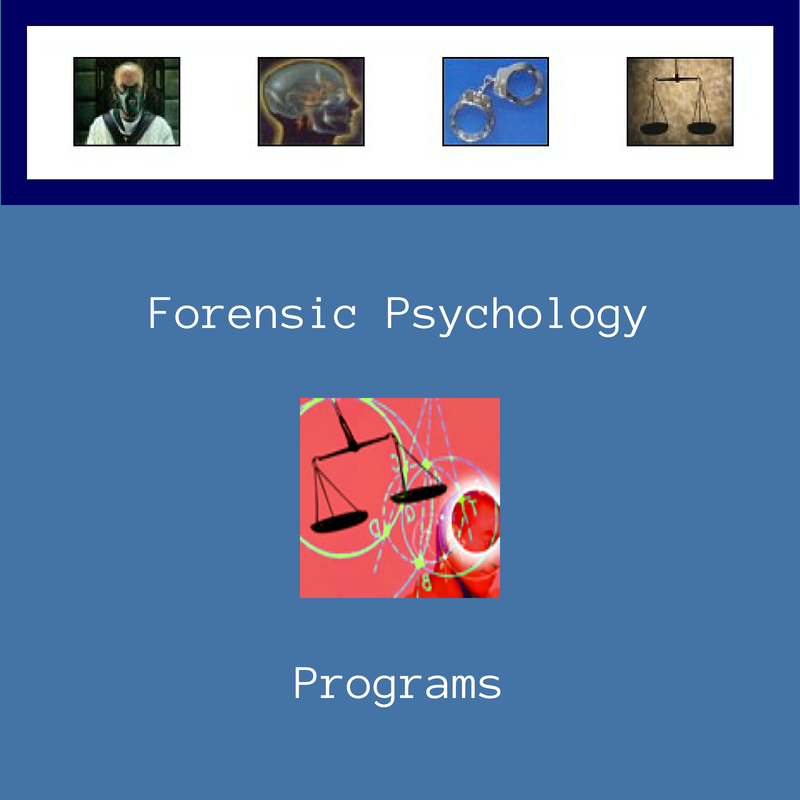 Forensic Psychology Degree Programs | Psychology degree, Forensic ...