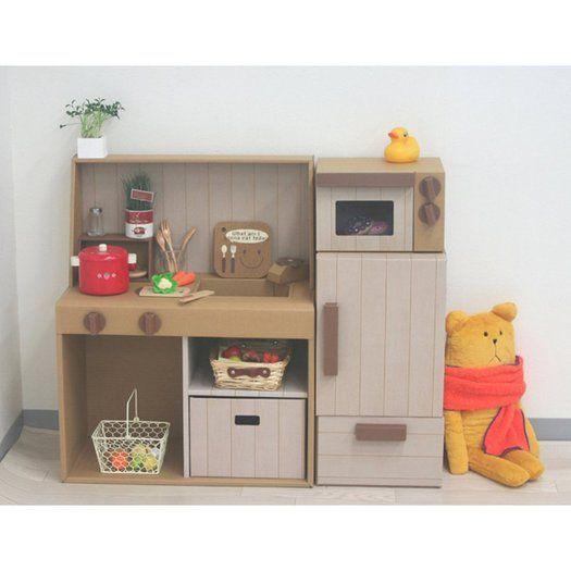 Play Kitchen Plans: Cardboard Kitchen, Cardboard