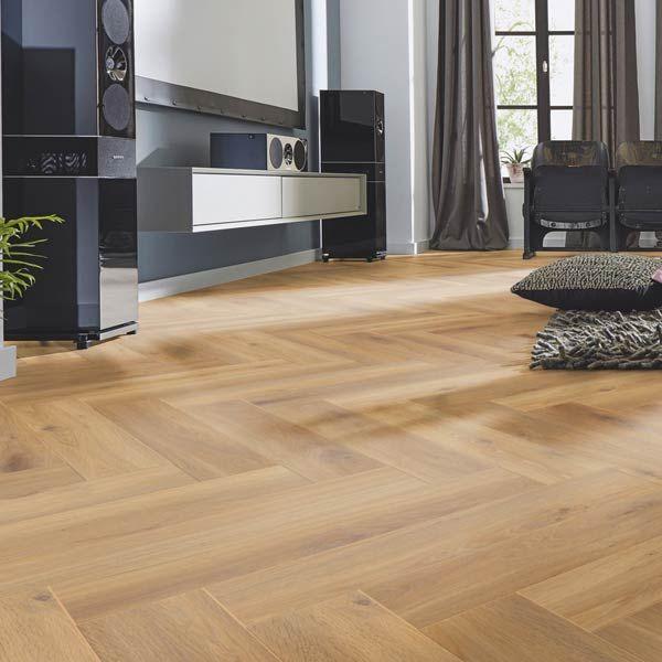 8mm Classic Natural Oak Herringbone Laminate Floor 3861 in