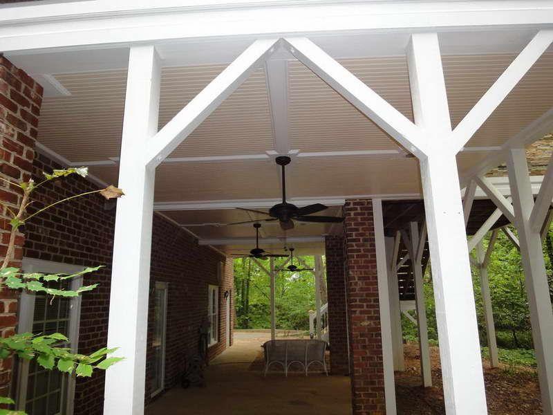 Planning ideas great idea for under deck ceiling design for Under porch ideas