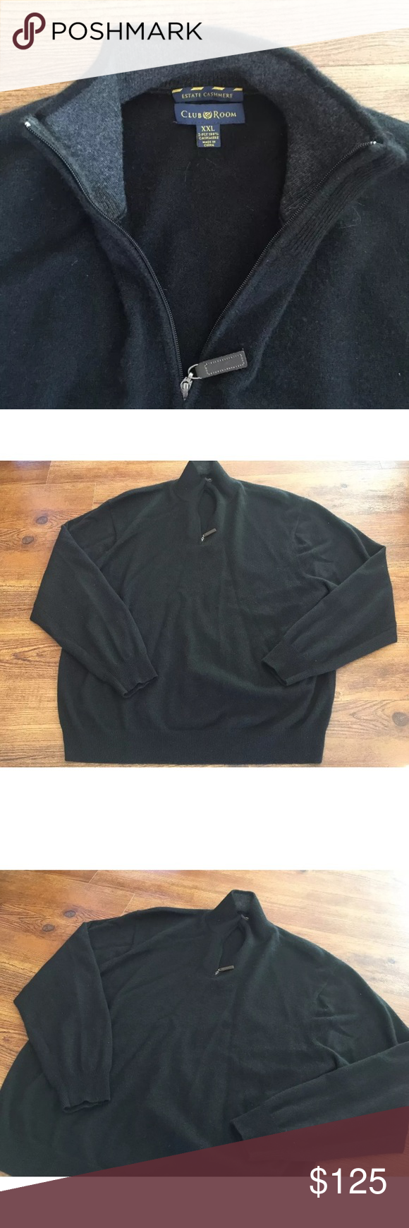 Cashmere Sweater Club Room XXL 2-Ply 100% Estate | Polos, Cashmere ...