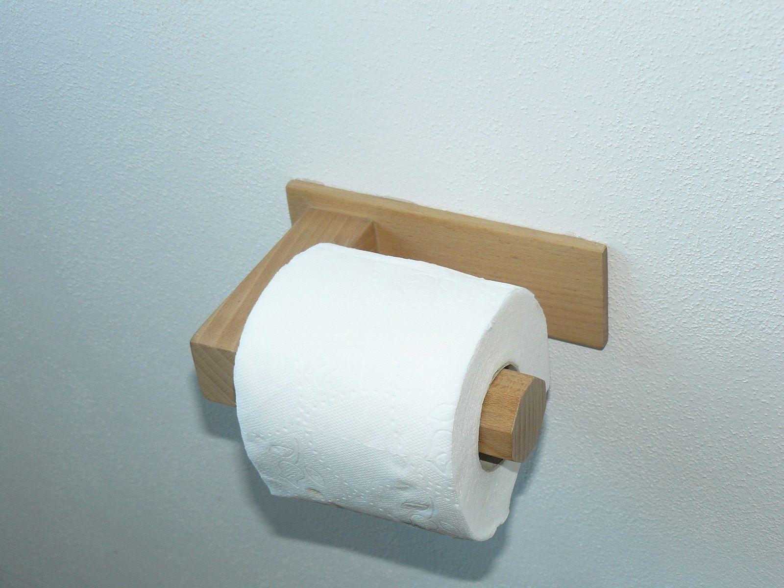 Toilet Paper Holder Dřevěný Držák Na Toaletní Papír, WC Držák Držák Na  Toaletní Papír Používá