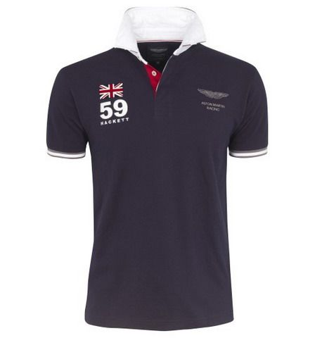 polo ralph lauren outlet online Hackett London Aston Martin Racing Striped  Rugby Shirt Navy http: