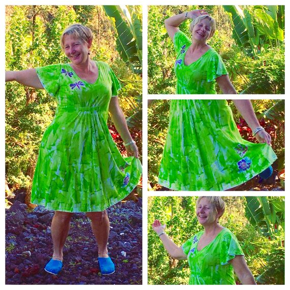 Plus Size Dress Hawaiian Dress Plus Size Hawaiian Empire Waist