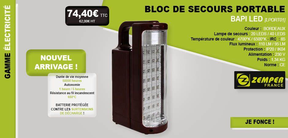 nouveau #nouveauté #bapi #bloc #portatif #éclairage #secours - eclairage exterieur detecteur automatique