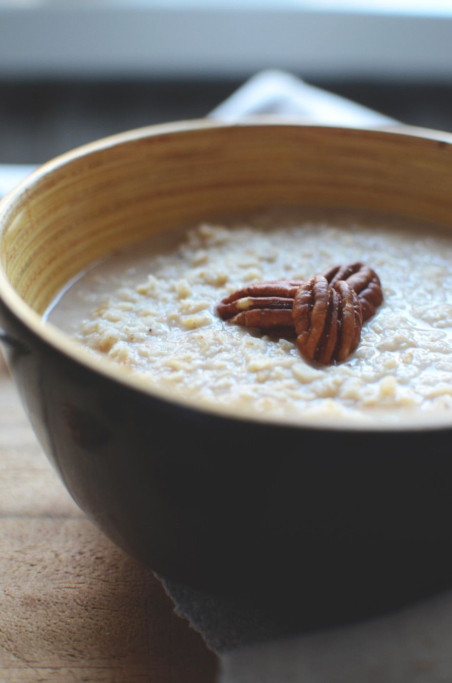Simple toasted oatmeal.
