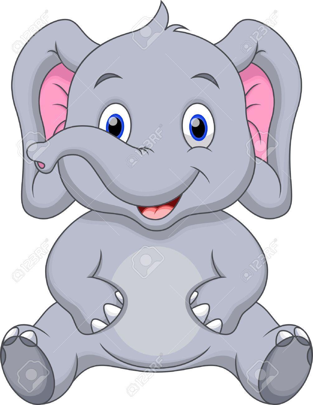 Dibujos Animados Lindo Elefante Dibujo Elefante Infantil Imagenes Infantiles De Animales Elefante Infantil