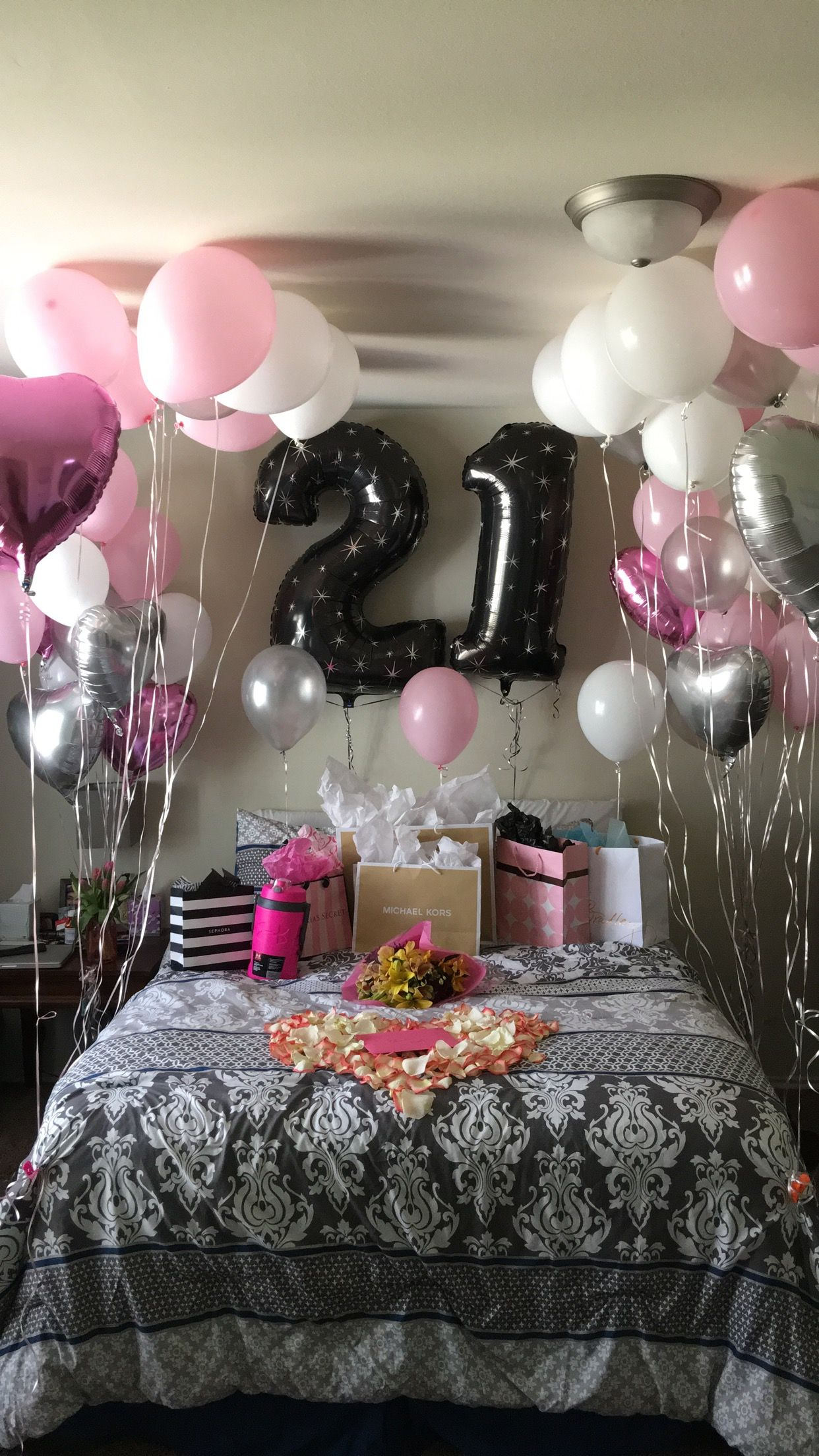 21st Birthday surprise! | Birthday room decorations ...