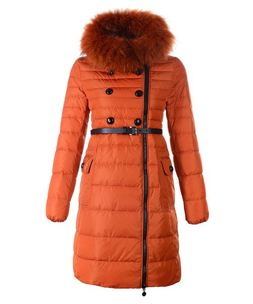 sports shoes dbd8c 607dd Moncler Herisson Fashion Coat Womens Long Orange [ MOCL676 ...