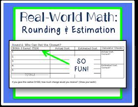 Life, Love, Literacy: Whole Numbers Estimation: Real World Math Freebie #mathintherealworld