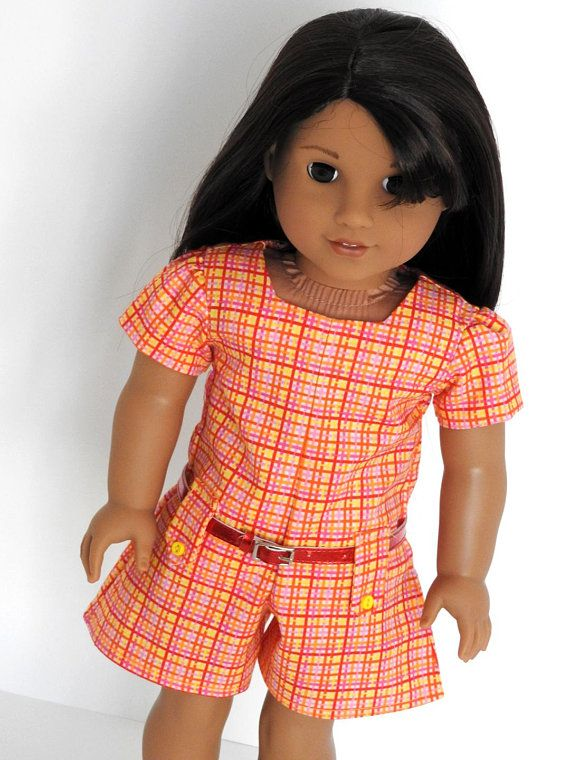 Trendy AG Doll Romper fits like 18 Inch American Girl Doll Clothes ...