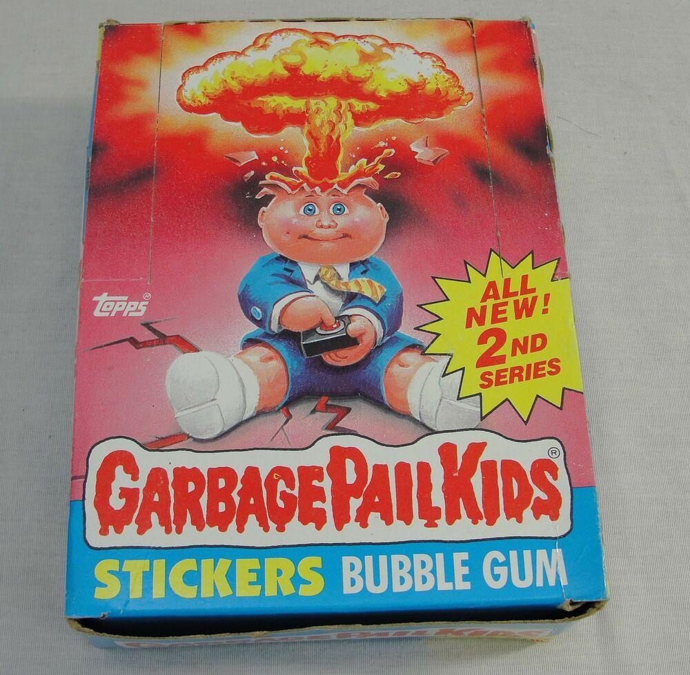 Vintage Topps 1985 Garbage Pail Kids Gpk 2nd Series Complete Box 48 Sealed Packs Garbage Pail Kids Garbage Pail Kids Cards Kids Series