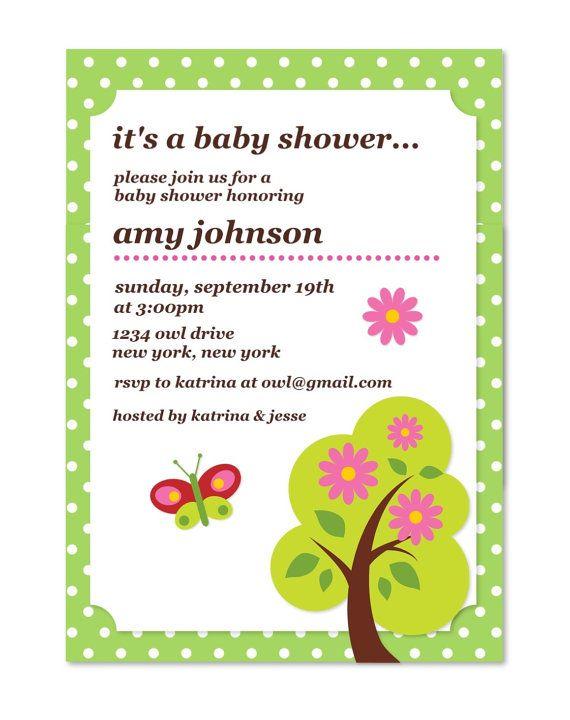 Baby Shower Customized Invitation by MyFashionLove on Etsy, $5.00