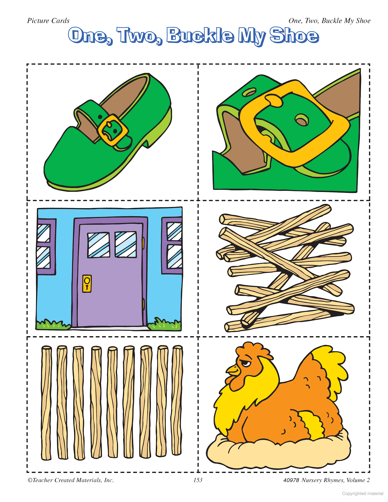 Enterprising image regarding one two buckle my shoe printable
