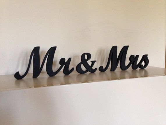 Mr Mrs Wedding Signs For Sweetheart Table Wooden Letters