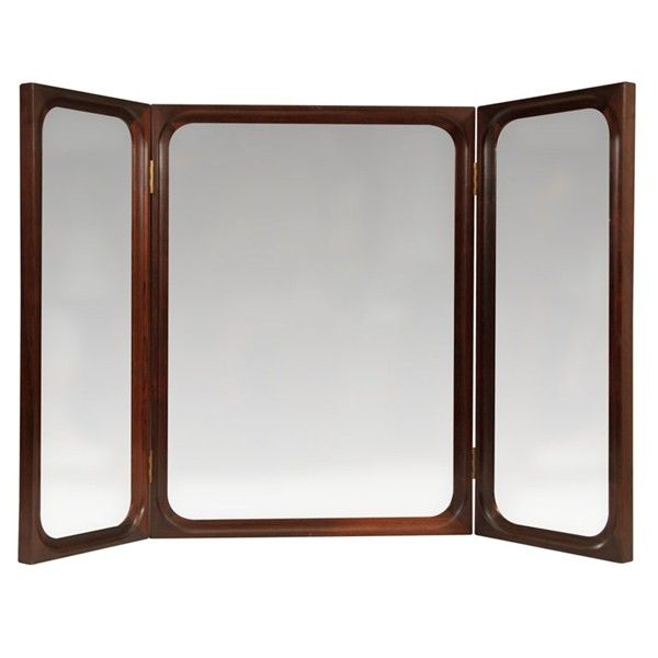 Trifold Mirrors For Wall | Danish Mid Century Modern Rosewood Trifold Wall  Or Vanity Mirror
