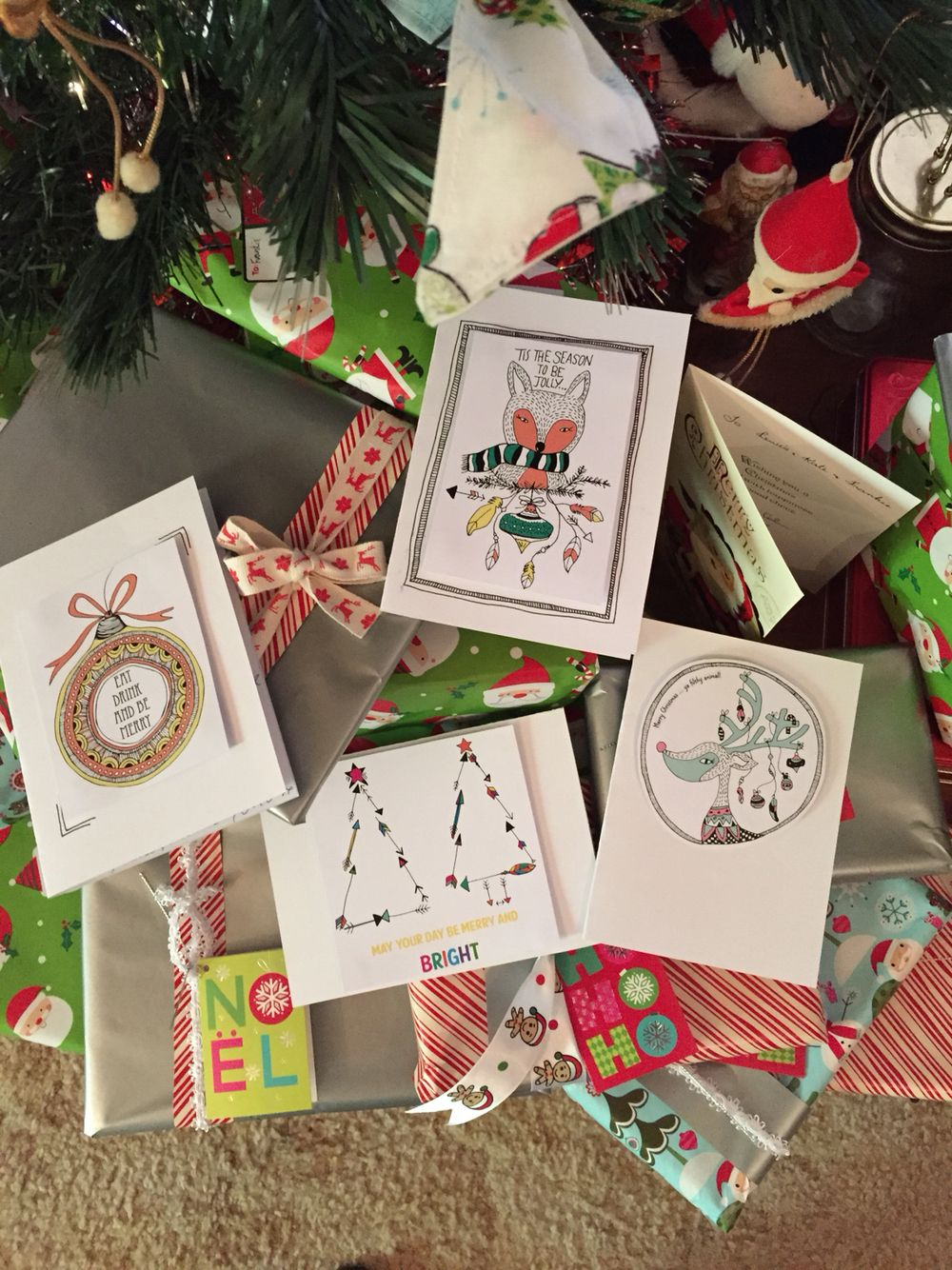 All my handmade Christmas cards