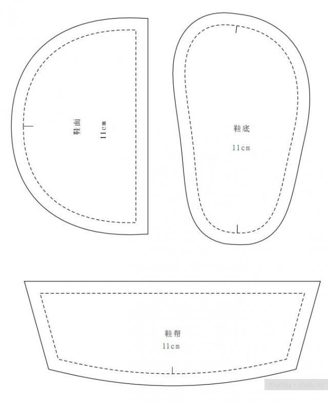 Схема выкроек пинеток