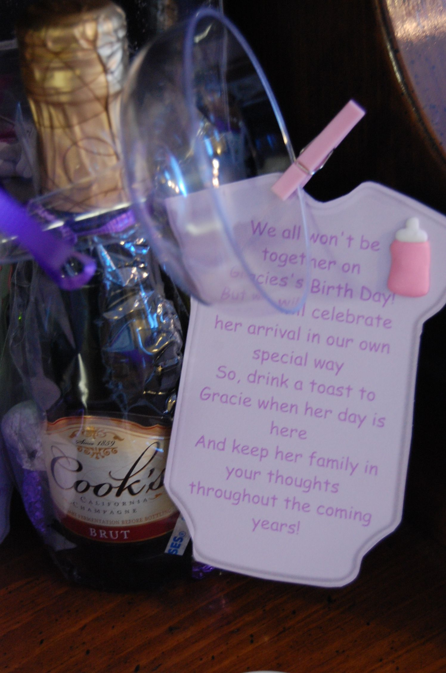 Cutest Shower Favor Ever Champagne Glass Cookie And Poem About