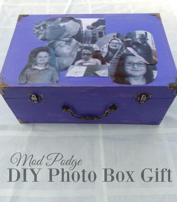 Mod Podge DIY Photo Box Tutorial #SaveYourMemories #CollectiveBias ...