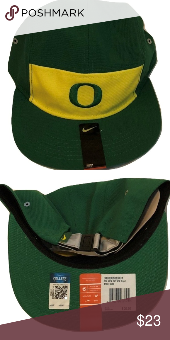 7f0d32cbde2c2a Oregon Ducks Nike AW84 New Day Adjustable Hat Oregon Ducks Nike AW84 Apple  Green/Yellow New Day Adjustable Cap. Save money by bundling with other  items in ...