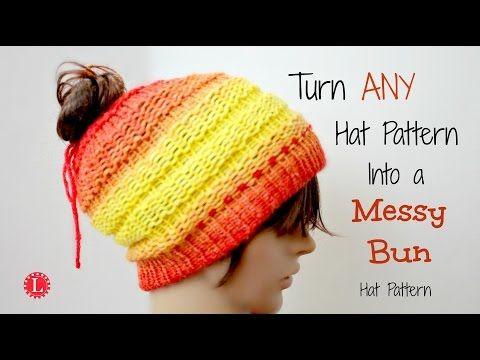 05b4b17ba9a ... real loom knit turn any hat pattern into a messy bun hat youtube 36842  d9d39