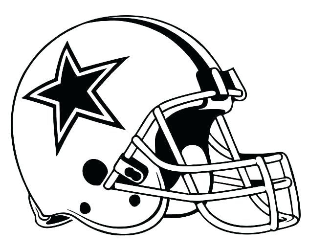 632x511 dallas cowboys coloring