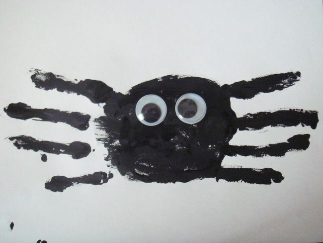 halloween handprint spider craft - Halloween Spider Craft Ideas