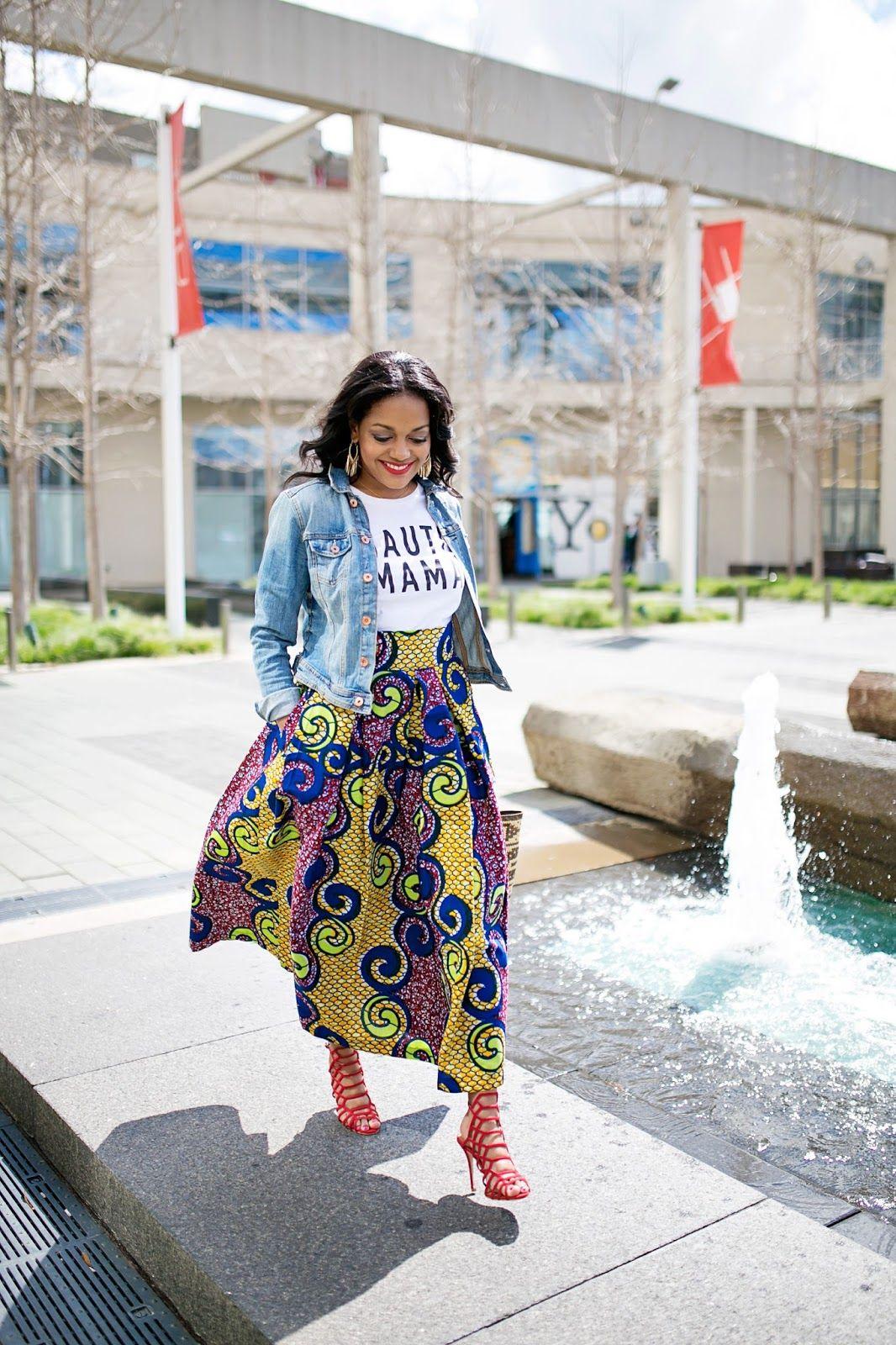 CAS CLOTHING: ANKARA PRINT MIDI SKIRT | Print..., Skirts and Girls