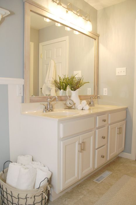 Bathroom cabinet update using #Rustoleum cabinet ...