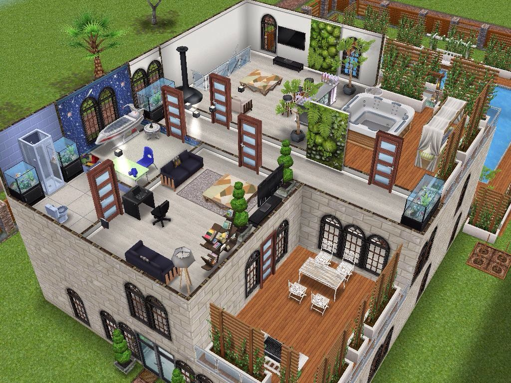 House 17 level 3 sims simsfreeplay simshousedesign for Casa de diseno the sims freeplay
