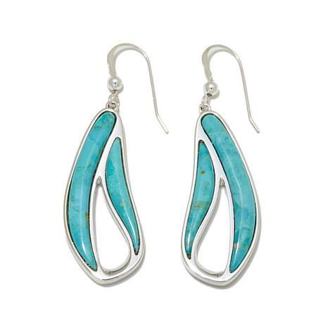 Jay King Santa Rita Turquoise Cutout Drop Earrings