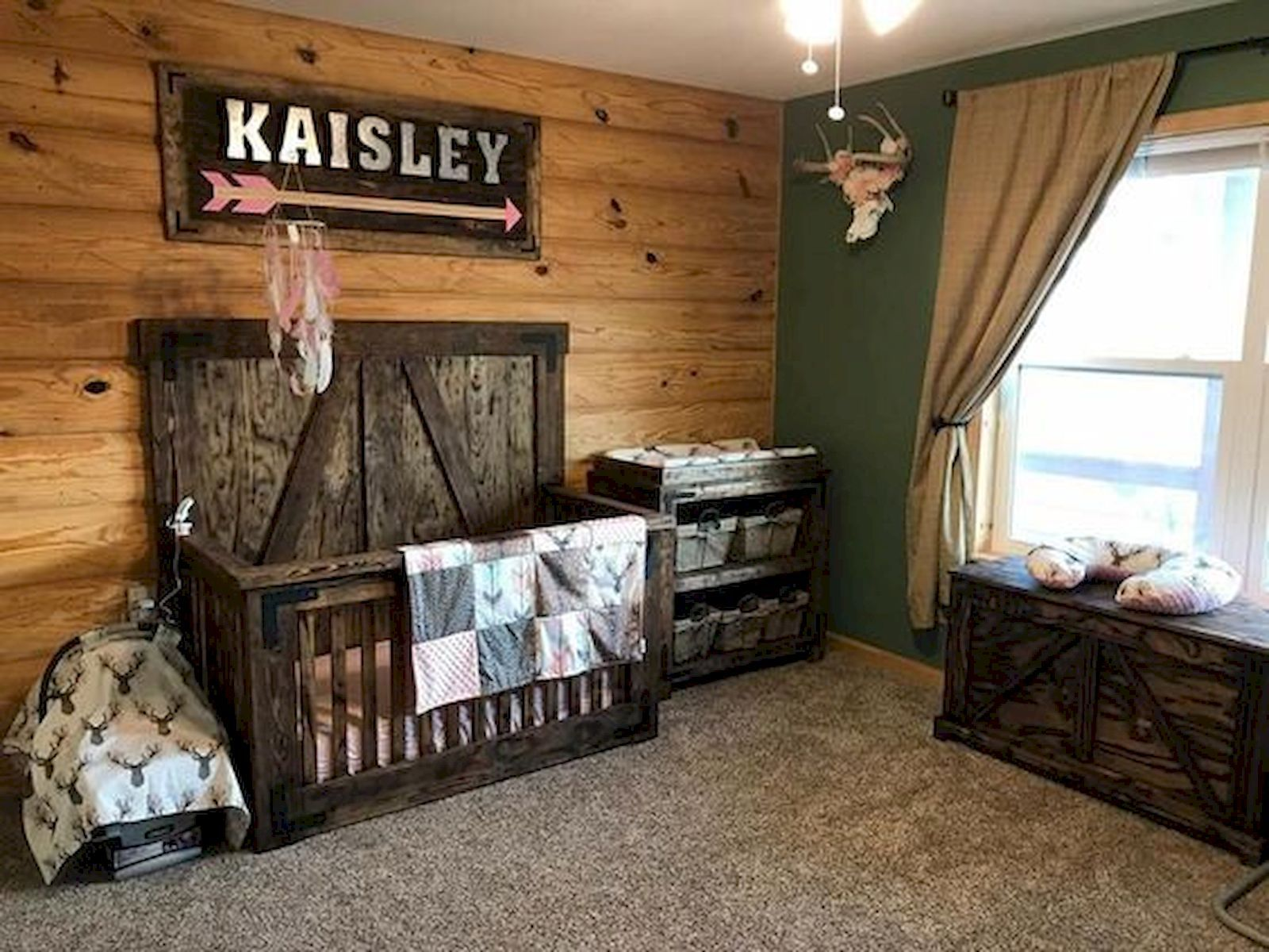 30 Adorable Rustic Nursery Room Ideas With Images Rustic Nursery Room Ideas Nursery Baby Room Baby Girl Room