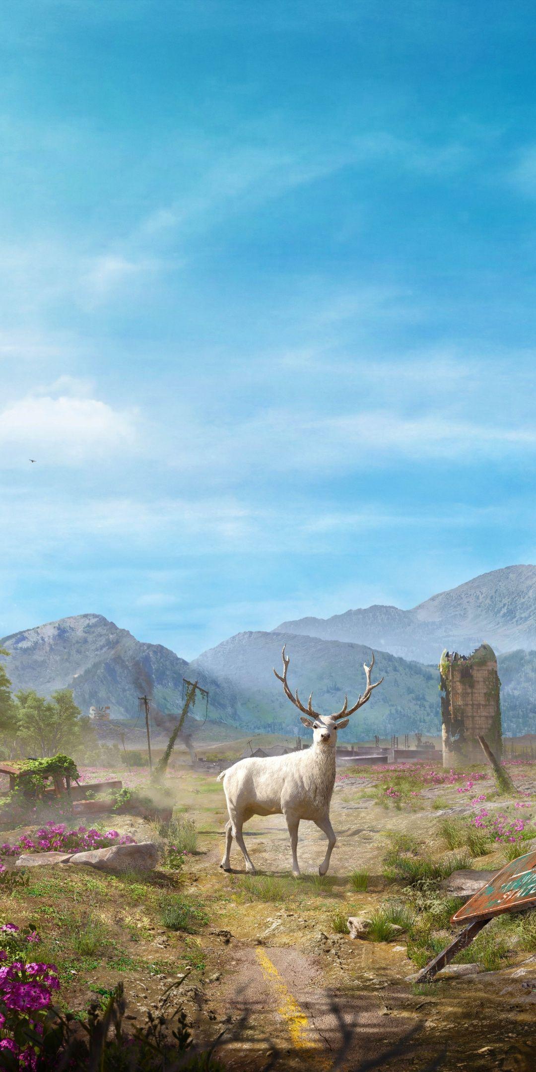 Landscape Deer Video Game Far Cry New Dawn 1080x2160 Wallpaper