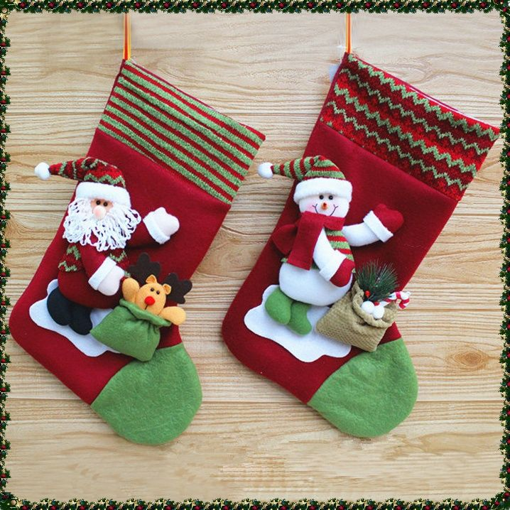 Cute Christmas socks (Santa & Snowman)