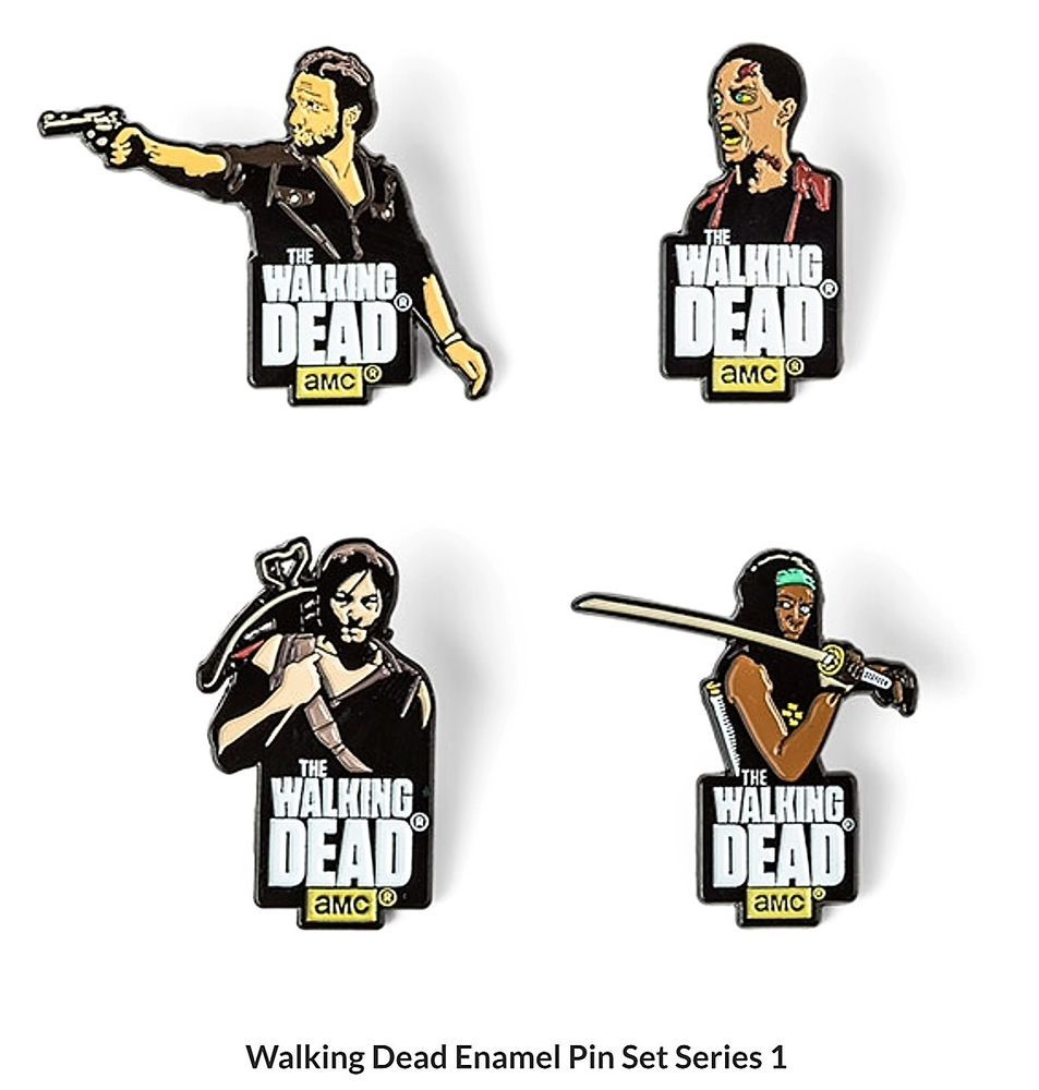 Lovely AMCu0027s THE WALKING DEAD Enamel Pin Set Of 4   Series 1 Pins   Officially  Licensed