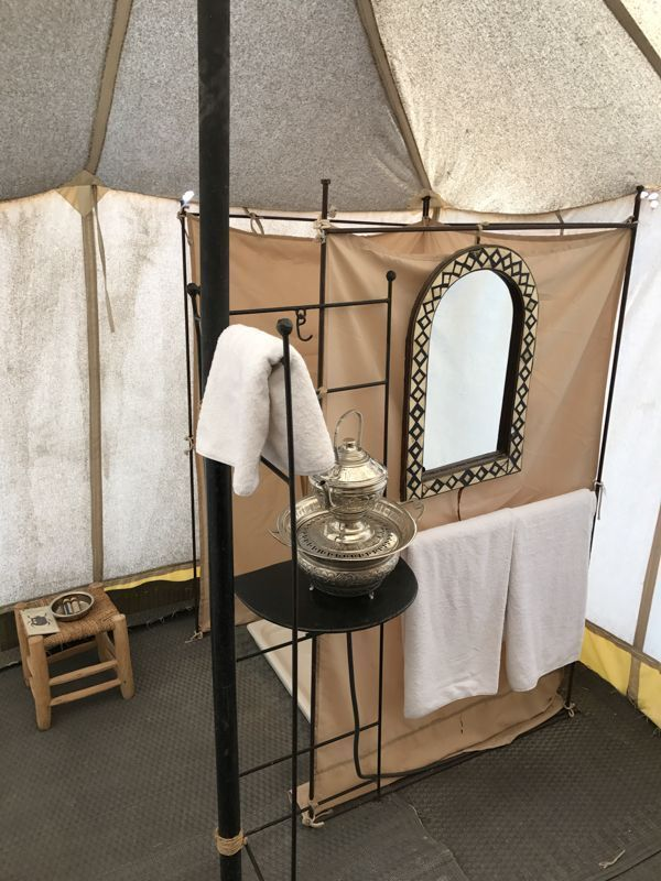 Glamping Bathrooms & Amenities | Bell tent, Bell tent ...
