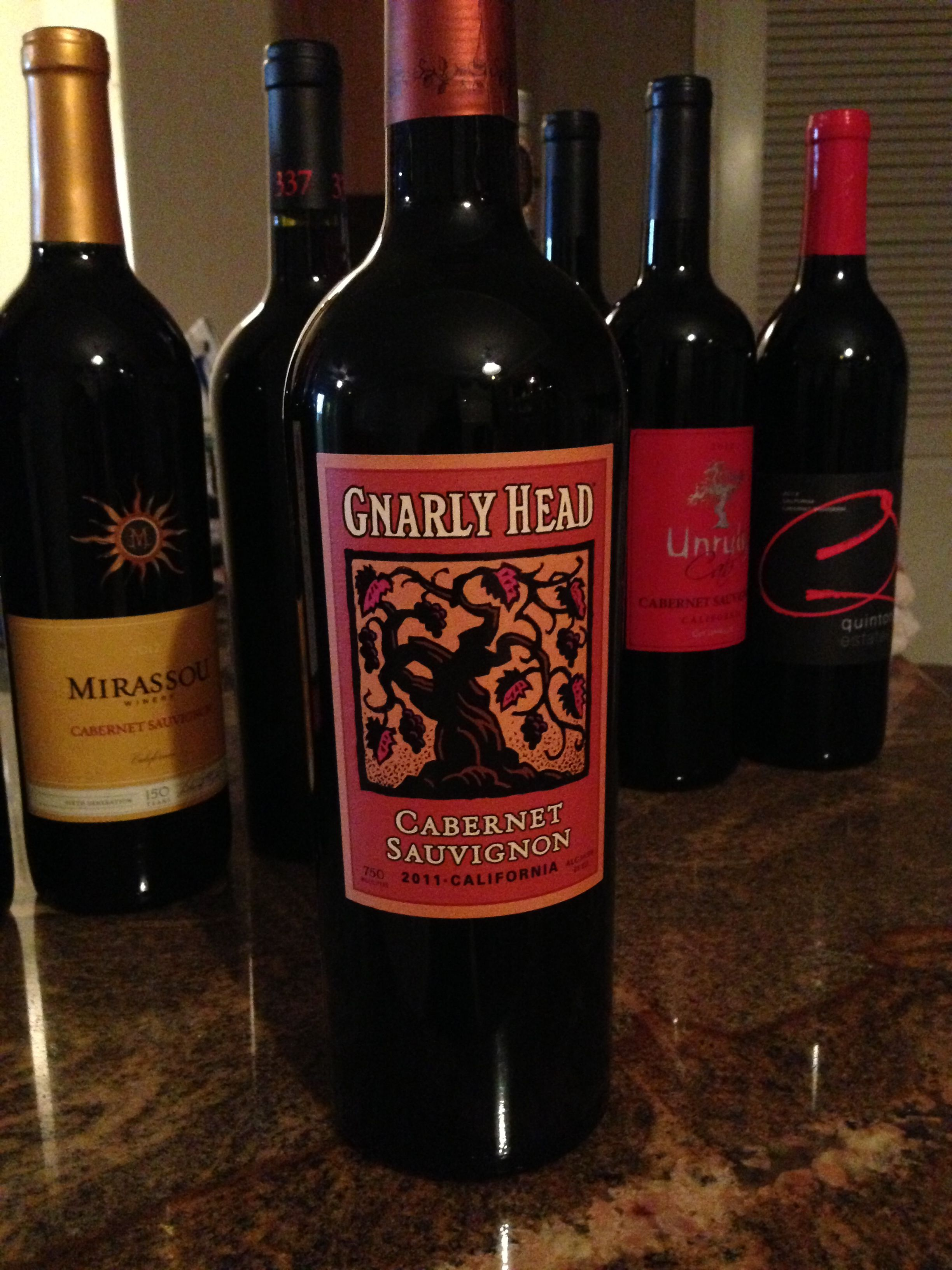 Gnarly Head Cabernet Sauvignon Favorite Wine Wine Bottle Cabernet