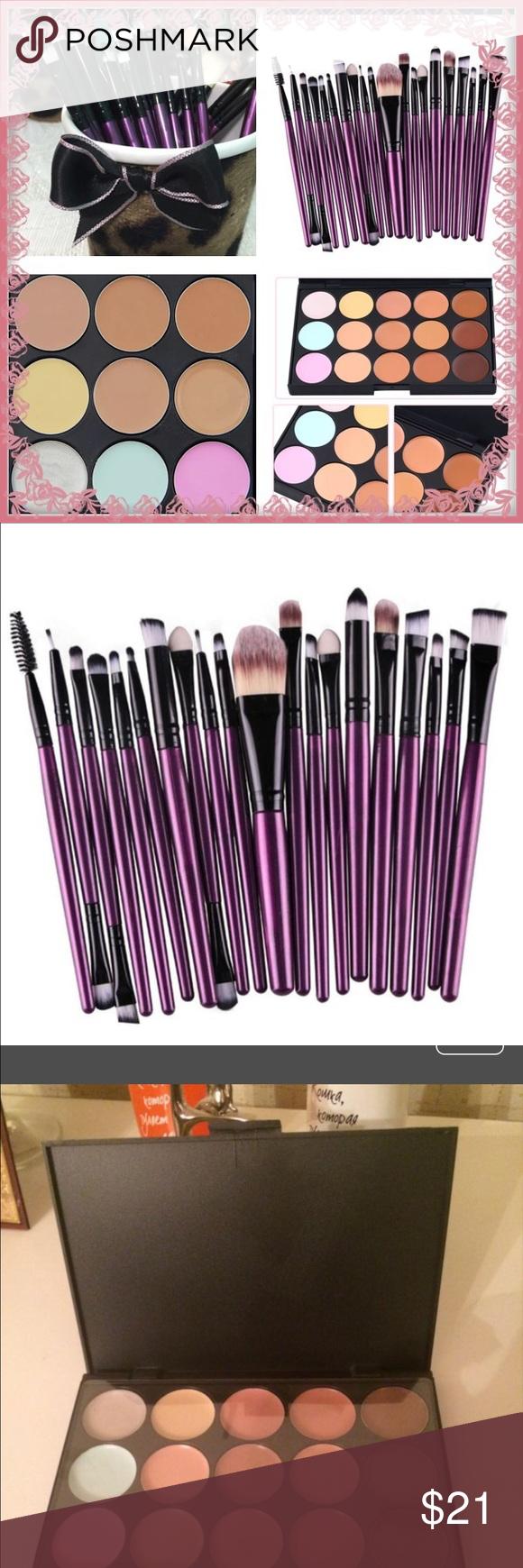 20 purple makeup brushes & Contour Boutique Purple