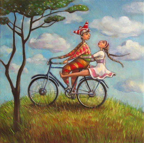Stacey Kurtz Art For Mural In Boys: Art-Russian Folk Art