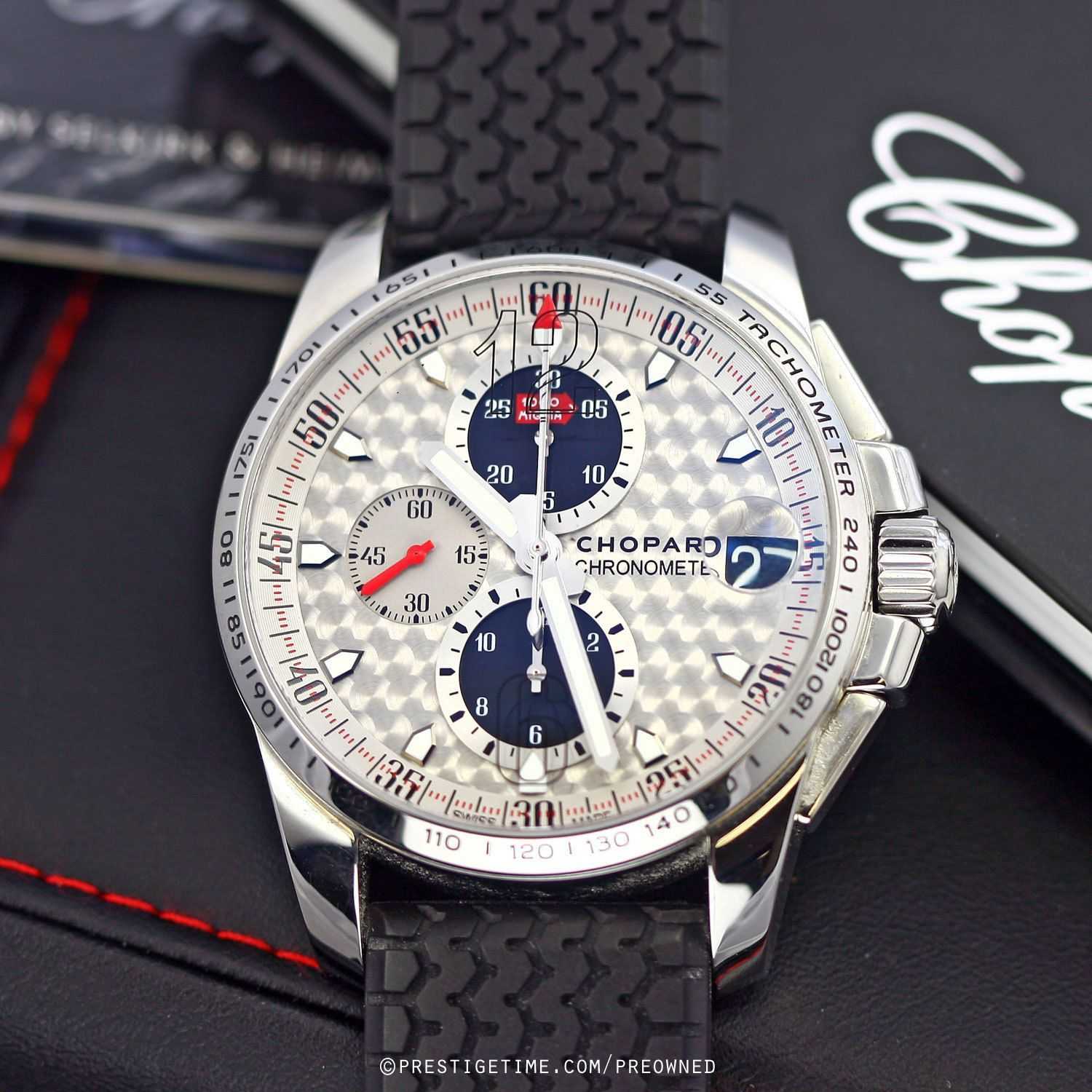 31db9306051 Pre-owned Chopard Mille Miglia Gran Turismo Chrono 168459-3019 in Gently  Used to Excellent Condition from The Most Trusted Name in Luxury Watches.