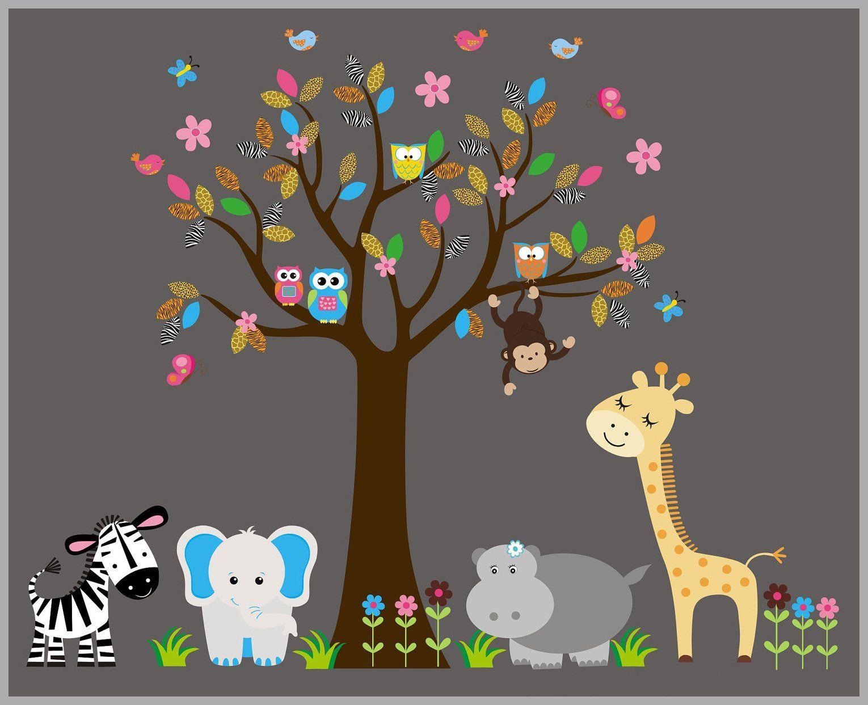 animal wall decals nursery safari theme jungle themed nursery