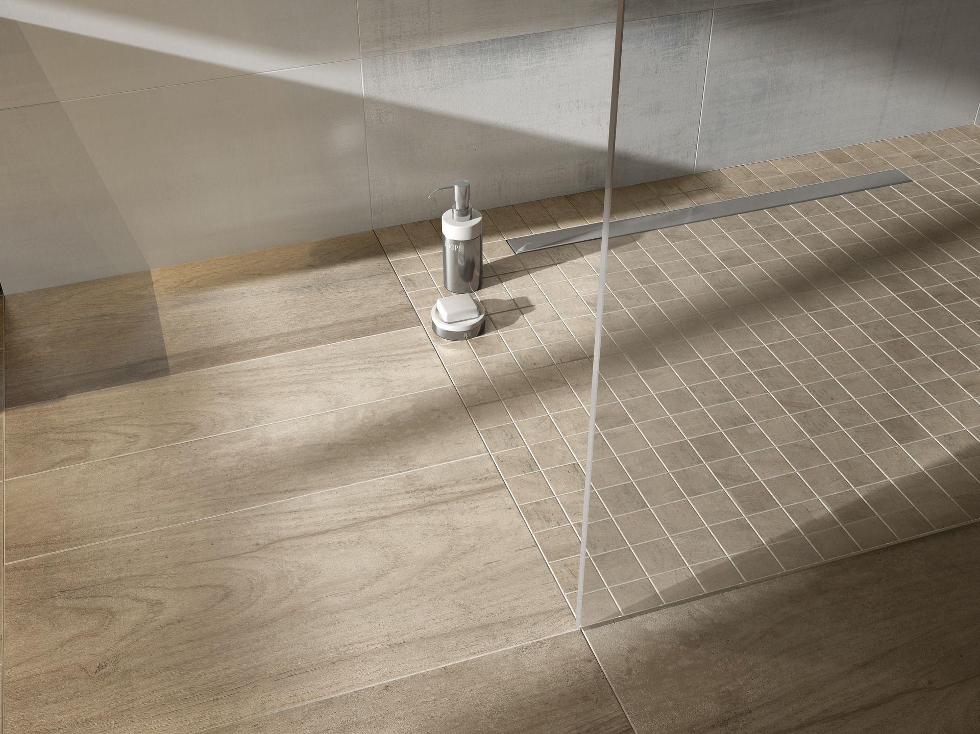 Bad Badezimmer Dusche Barrierefrei Bodengleich Interieur