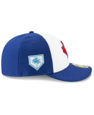the latest fa62e 94f27 New Era Toronto Blue Jays Spring Training 59FIFTY-fitted Low Profile Cap - Blue  7 5 8