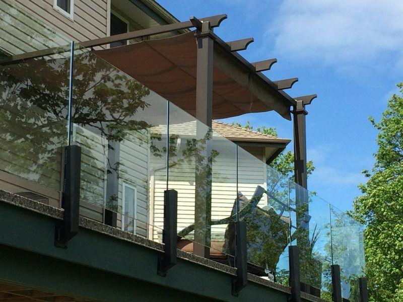 Balkon Mit Windschutz Und Überdachung | Terrassen | Pinterest ... Windschutz Balkon Moglichkeiten