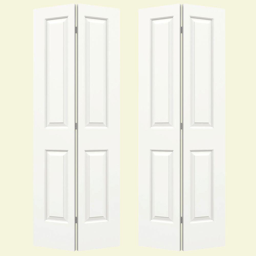 Jeld Wen 72 In X 80 In Cambridge White Painted Smooth Molded